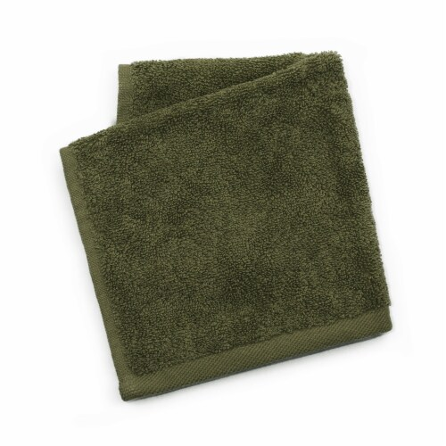 Dip Solid Wash Cloth - Green Perspective: front