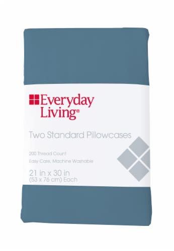 Everyday Living® Cotton/Polyester 200 Thread Count Pillow Cases - 2 Pack - Provincial Blue Perspective: front