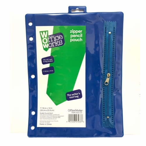 Office Works Zipper Pencil Pouch - Assorted Perspective: front