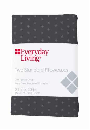 Everyday Living® 200 Thread Count Compass Stitch Pillow Cases - 2 Pack Perspective: front