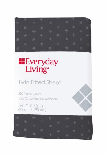Everyday Living® 200 Thread Count Compass Stitch Fitted Sheet Perspective: front
