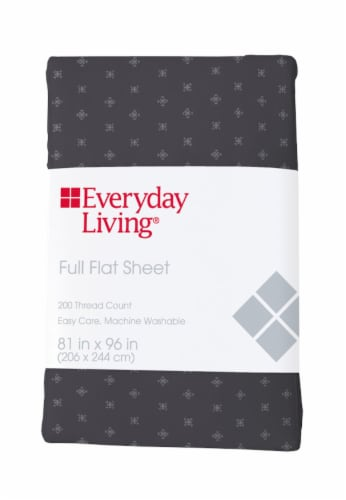 Everyday Living® 200 Thread Count Cotton/Polyester Flat Sheet - Compass Stitch Perspective: front