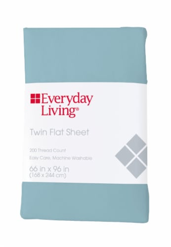 Everyday Living® 200 Thread Count Cotton/Polyester Flat Sheet - Sea Angel Perspective: front