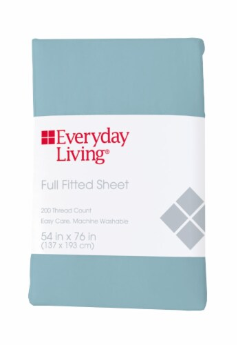 Everyday Living® 200 Thread Count Cotton/Polyester Fitted Sheet - Sea Angel Perspective: front