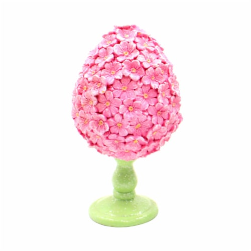 Holiday Home Egg Decor - Pink Perspective: front