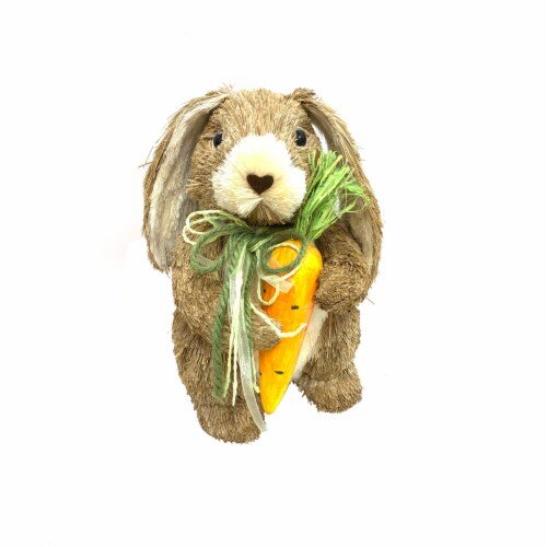 Holiday Home Natural Bunny with Carrot - Brown Perspective: front
