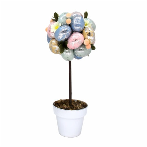 Holiday Home Easter Egg Tree - Silver Perspective: front
