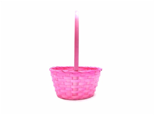 Holiday Home Bamboo Basket - Pearl Pink Perspective: front