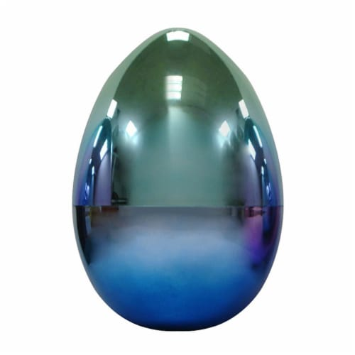 Holiday Home Metallic Egg - Ombre Blue Perspective: front