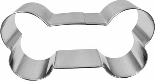 Dash of That Dog Bone Cookie Cutter - Silver Perspective: front