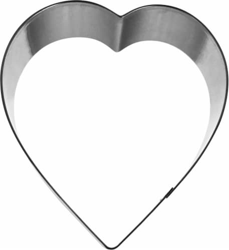 Dash of That Heart Cookie Cutter - Silver Perspective: front
