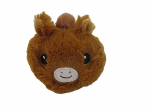 Holiday Home Plush Round Horse - Brown Perspective: front