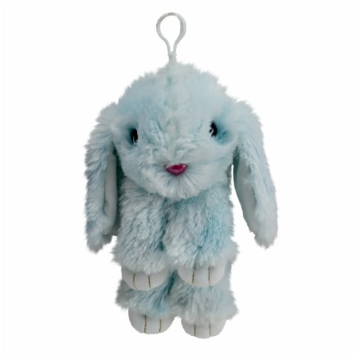 Holiday Home Plush Bunny - Blue Perspective: front