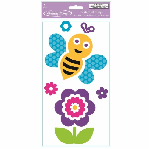 Holiday Home® Bumblebee Easter Gel Clings Perspective: front