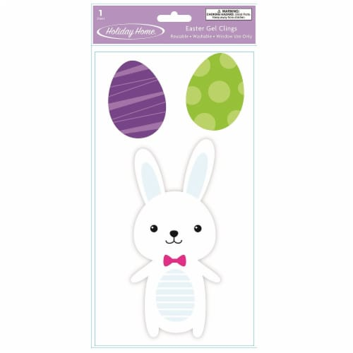 Holiday Home® Bunny Gel Cling - White Perspective: front