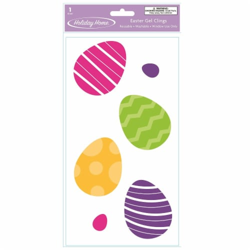 Holiday Home® Eggs Gel Cling Perspective: front