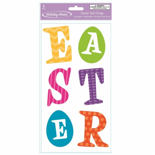 Holiday Home® Easter Letters Gel Cling Perspective: front