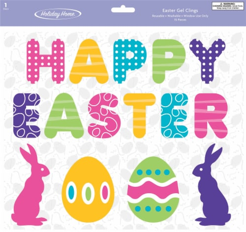 Holiday Home® Happy Easter Gel Clings Perspective: front