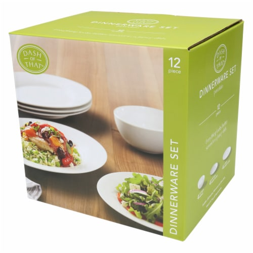 Dash of That™ Dinnerware Set - White Perspective: front