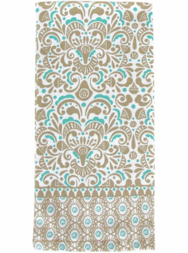 Everyday Living® Medallion Kitchen Towel Perspective: front