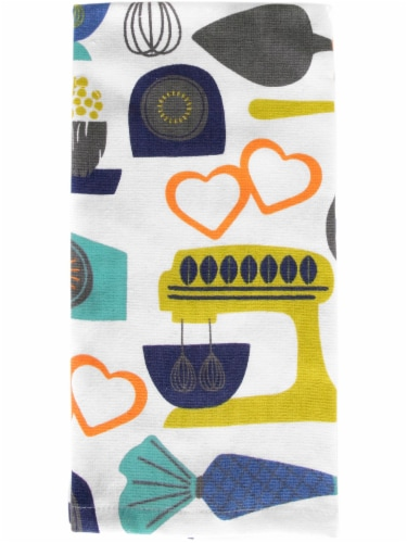 Everyday Living Kitchy Kitchen Dual Print Kitchen Towel Perspective: front