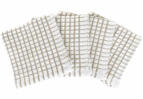 Everyday Living Mini Checkered Kitchen Cloths - Light Gray/White Perspective: front