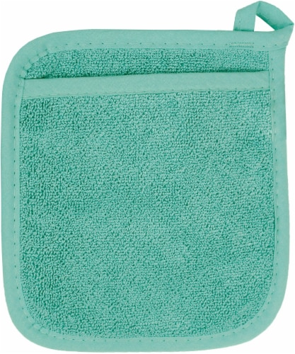 Everyday Living® Pocket Mitt - Teal Perspective: front