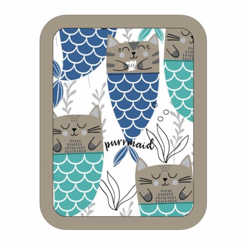 Everyday Living Purrmaid Print Pot Holder - Gray/Blue Perspective: front