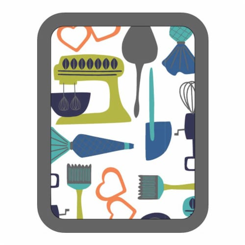 Everyday Living Kitchy Kitchen Pocket Oven Mitt - Gray Perspective: front