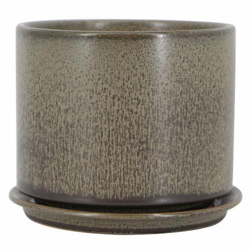 The Joy of Gardening® Sandrift Cylinder Planter Perspective: front