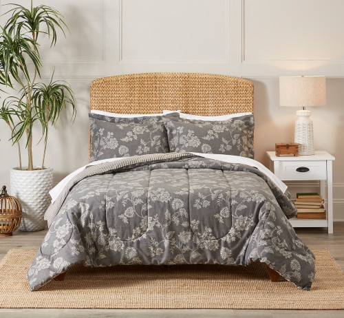 HD Designs Chambray Scroll Comforter Set - 3 Piece Perspective: front