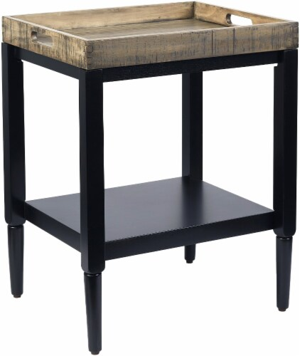 Everyday Living Wood Tray Accent Table - Navy Perspective: front