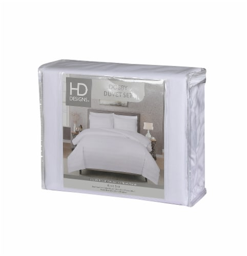HD Designs® Hotel Dobby Stripe Duvet Cover Set Perspective: front