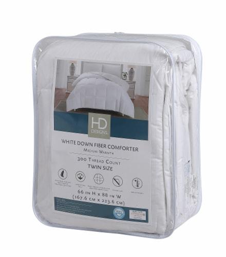 HD Designs® All Season Down Fiber Comforter - White Perspective: front