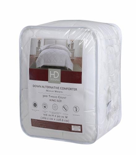 HD Designs® Sateen Light Warmth Down Alternative Comforter Perspective: front