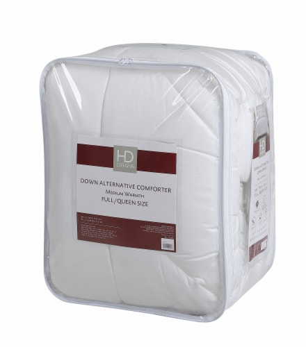 HD Designs® Sateen Medium Warmth Down Alternative Comforter - White Perspective: front