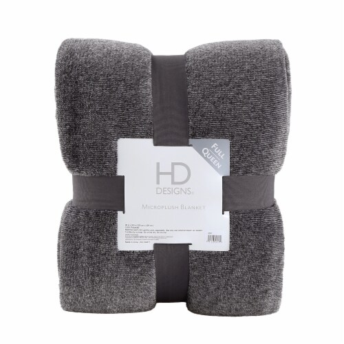 HD Designs® Microplush Blanket - Gray Perspective: front