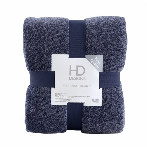 HD Designs® Microplush Blanket - Blue Perspective: front
