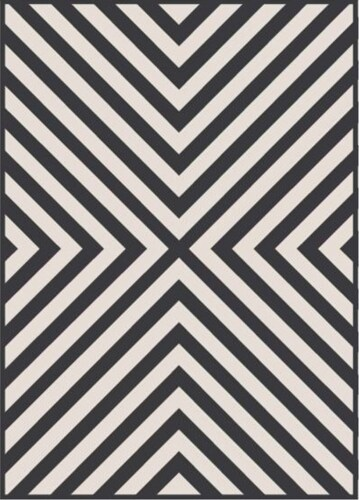 HD Designs Outdoors Cape Rose Rug - Black/White Perspective: front