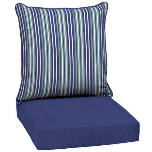HD Designs Outdoors® Stripe Deep Seat Cushion - Blue Perspective: front