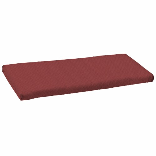 HD Designs Outdoors® Bench Cushion - Red Perspective: front
