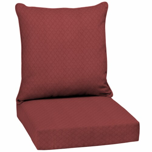 HD Designs Outdoors® Deep Seat Cushion - Red Perspective: front
