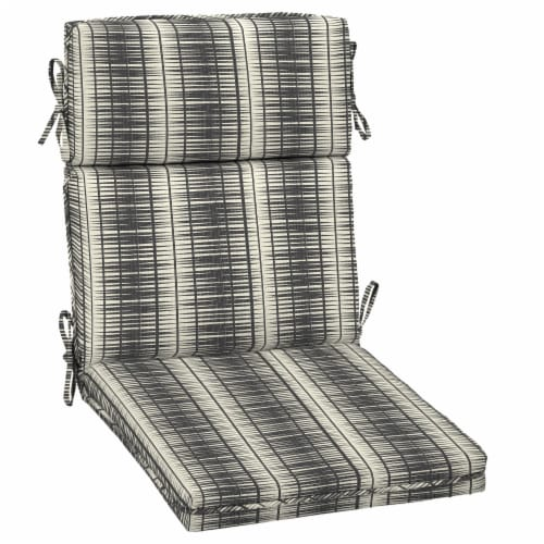 HD Designs Outdoors® High Lines Back Chair Cushion - Black/White Perspective: front