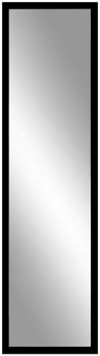 12 Inch x 48 Inch Door Mirror - Black Perspective: front