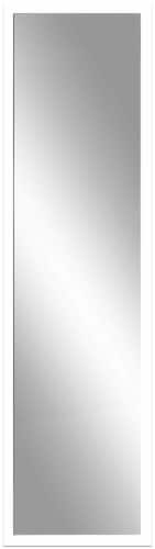 12 Inch x 48 Inch Door Mirror - White Perspective: front