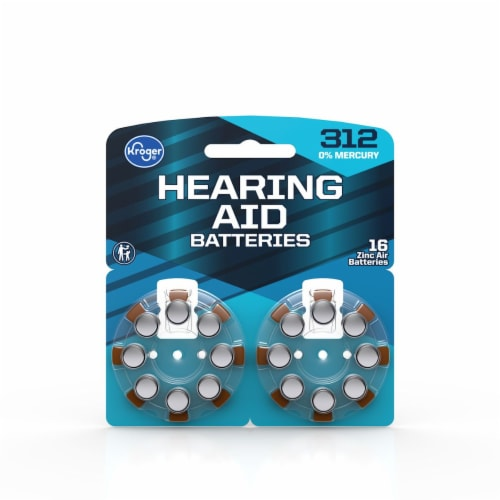 Kroger® Size 312 Hearing Aid Batteries Perspective: front