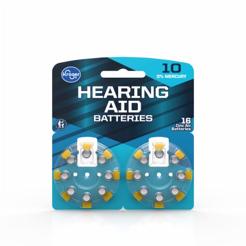 Kroger® Size 10 Hearing Aid Batteries Perspective: front