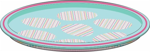 Holiday Home Spring Fairisle Tin Tray Perspective: front