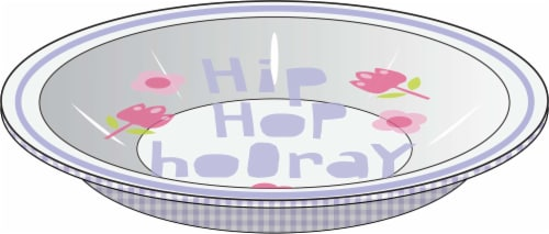 Holiday Home Hip Hop Hooray Tin Bowl Perspective: front