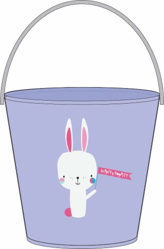 Holiday Home Hoppy Bunny Treat Bucket - Purple Perspective: front